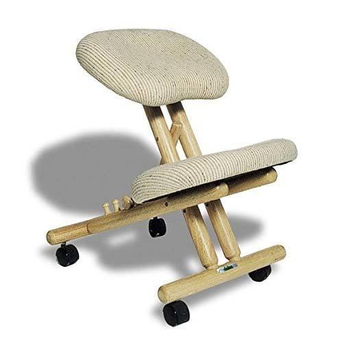 Chaise ergonomique professionnelle sans dossier couleur Naturelle